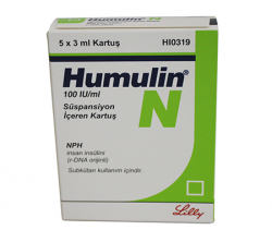 Humulin N 100 iu (5 cartridges)