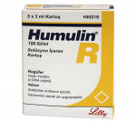 Humulin R Cartridges 100 iu (5 cartridges)