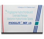 Pioglit MF 15 mg/500 mg (10 pills)