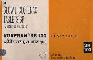 Voveran SR 100 mg (10 pills)